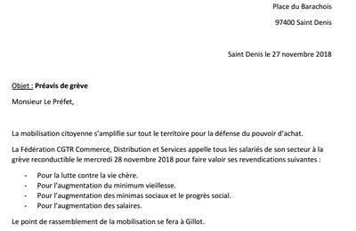 Préavis de grève pour le 28/11 de la fédération commerce distribution et services