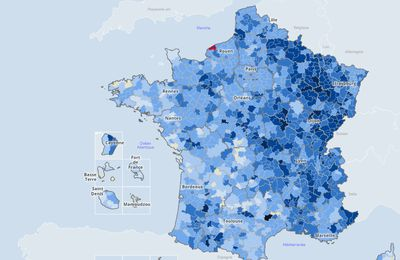 Covid 19 : Carte interactive du taux d'incidence par EPCI (intercommunalités)