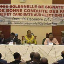 Texte intégral du Code de bonne conduite signé par les partis politiques et candidats aux scrutins de 2015