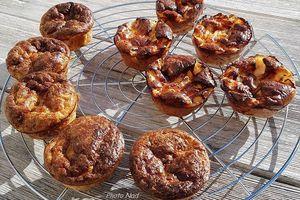 Mini Quiches au Thon ou au Jambon (sans pâte)