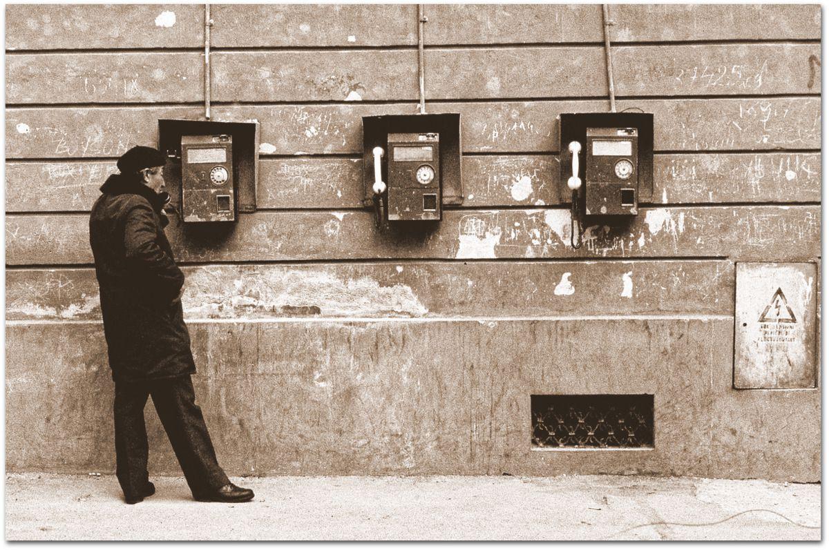 Cabines téléphoniques à Brasov.