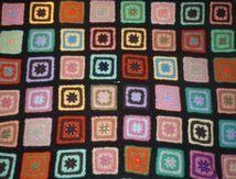 Plaid en crochet noir vintage