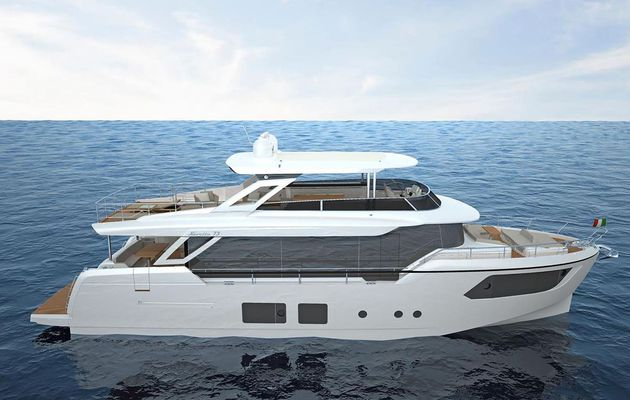 Absolute launches flagship Navetta 73 yacht with Volvo Penta's latest IPS