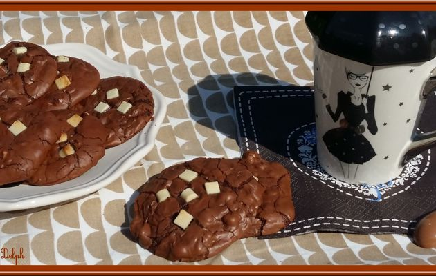 Cookies Brownies en noir et blanc