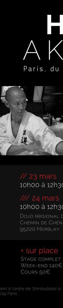Hino Akira à Paris, 22 au 24 mars