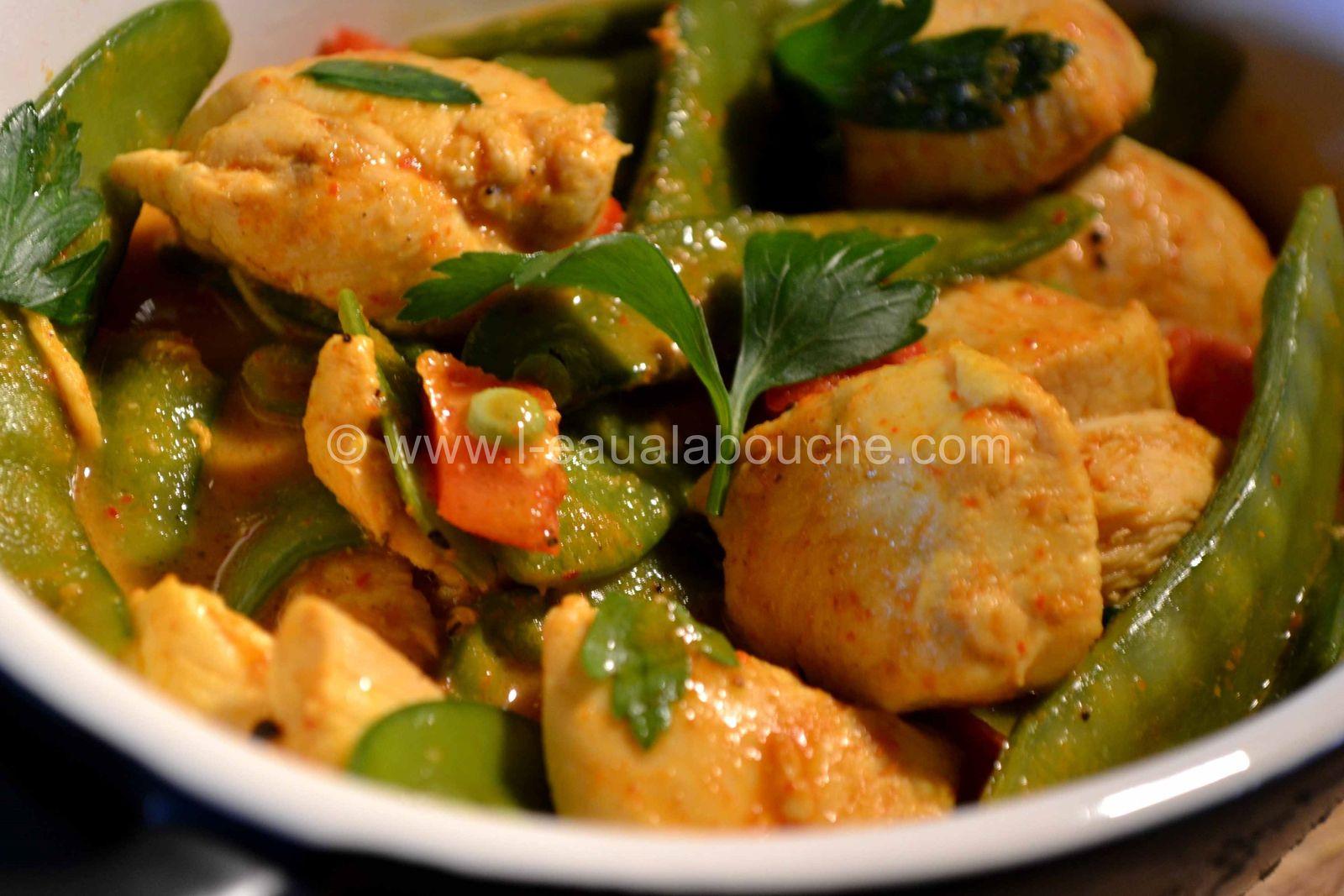 Cassolette de Poulet au Curry Thaï