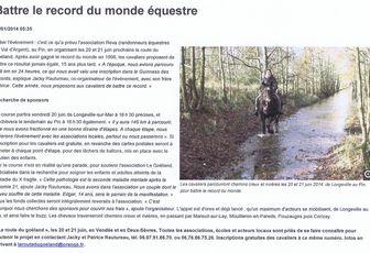 """La Route du Goéland dans """" La Nouvelle République """""""