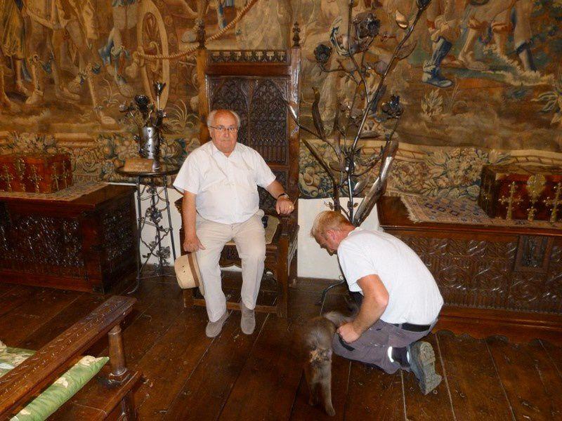 Nos œuvres sont exposées au château d'Anjony tout l'été.