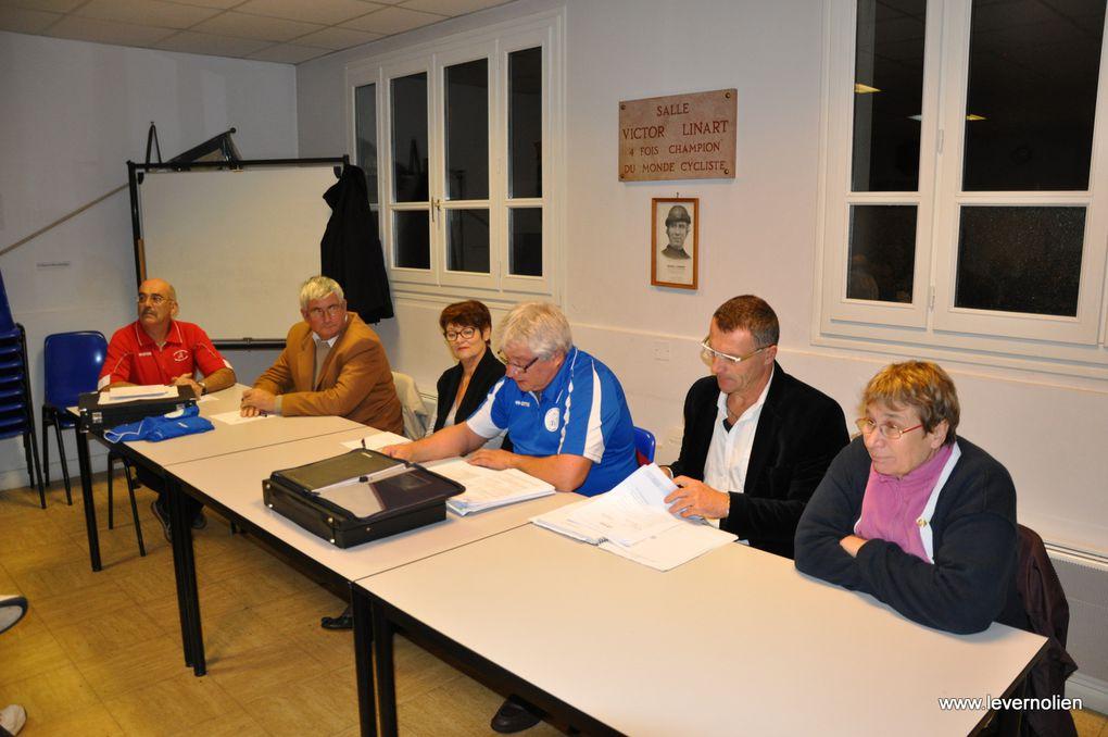 Assemblée générale de la section cyclisme du Stade Vernolien le 9 novembre 2013