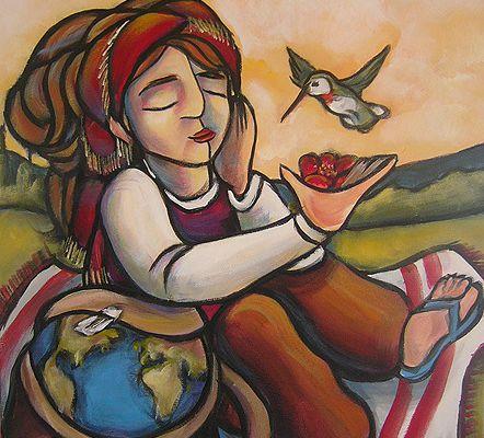 Une toile autour du monde, pour le bonheur planétaire / QUEBEC / ARTS PLASTIQUES