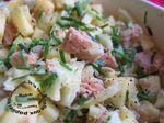 Salade de thon, pomme et fenouil (ou céleri branche)
