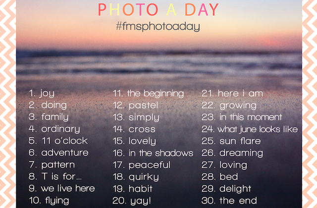 Photo A Day Challenge : juin 2014