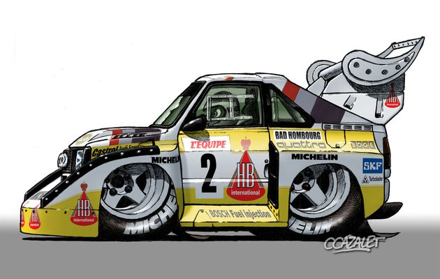Audi Sport Quattro S1 E2 Cartoon
