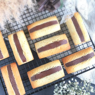 Financiers amandes & barres chocolat