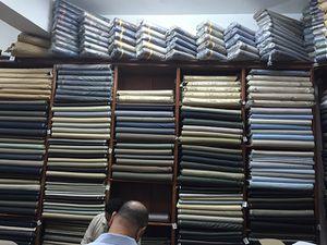 Au Caire, Egypte, Azhra le marché aux tissus