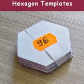 Geta's Quilting Studio: Tips for cutting hexagon templates
