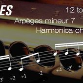 Exercices - Arpèges mineur 7 - 12 Tonalités - transposable (Musescore) - Harmonica chromatique
