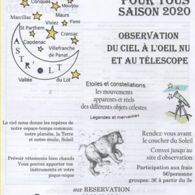 Astronomie saison 2020