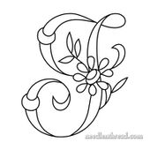 Monograms for Hand Embroidery - I, J Daisy & Rings