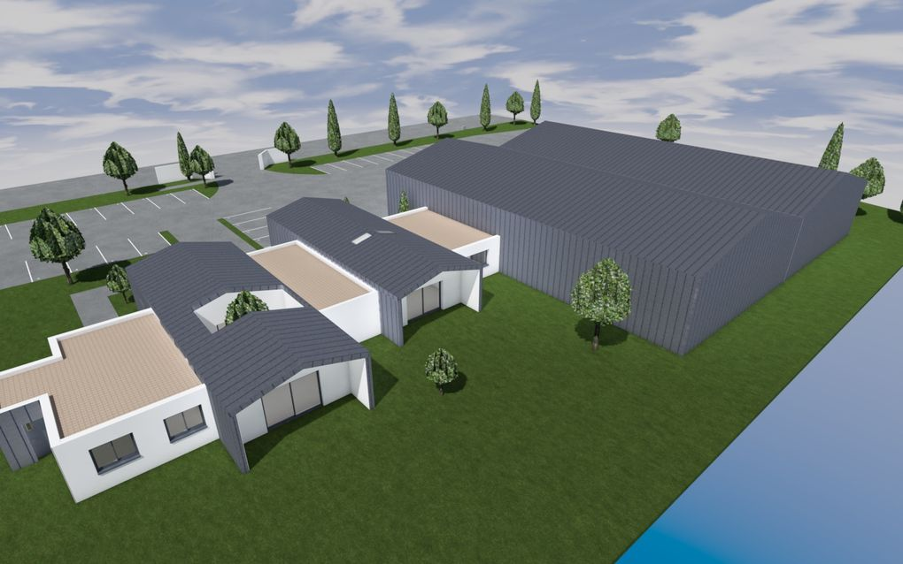 Conception d'un entrepôt avec bureaux et logement de fonction
