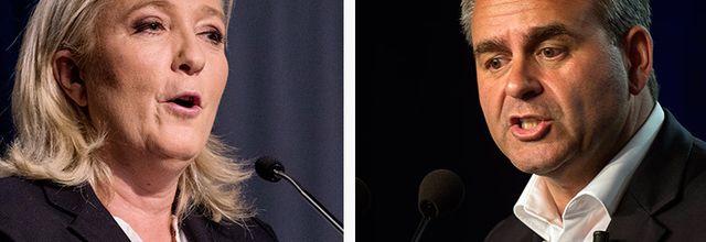 Débat entre Marine Le Pen et Xavier Bertrand ce mercredi sur RTL et LCI
