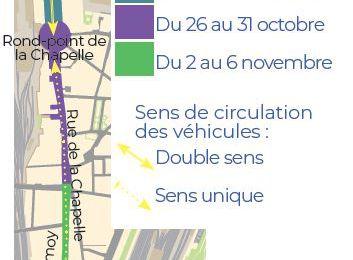 Travaux rue de La Chapelle…