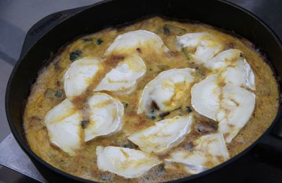 Omelette Chèvre Courgettes