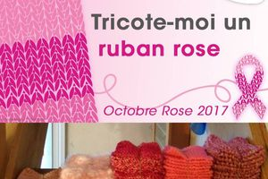 Tricote moi un ruban rose / octobre rose 2017