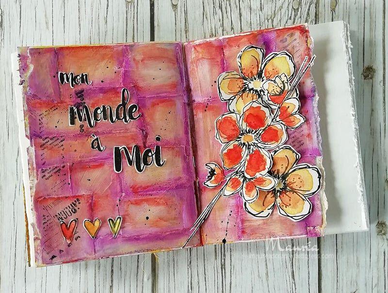 Défi 1 pour le mois de mai chez les Scrapsister's et pages d'Art journal