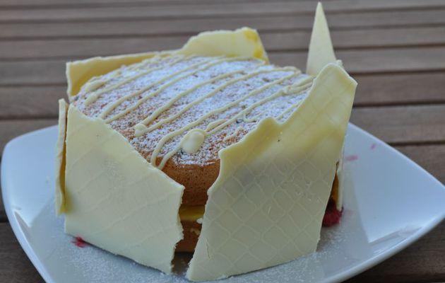 Gâteau lorrain aux framboises
