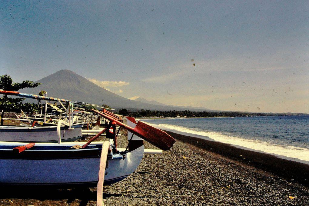 Bateaux de Bali, Indonésie.