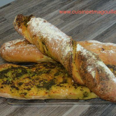pains tomates séchées et pistou