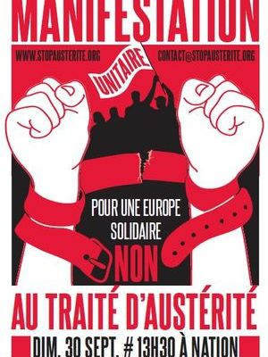 Ce n'est pas aux peuples de payer la crise : refusons le traité d'austérité