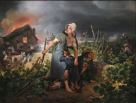 tableau de H Vernet: la campagne de 1814