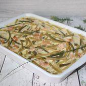 Clafoutis au duo de haricots et saumon fumé - Chez Vanda