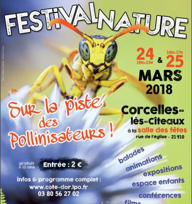 Festival nature sur la piste des pollinisateurs - 24 et 25 mars 2018 à Corcelles-lès-Cîteaux