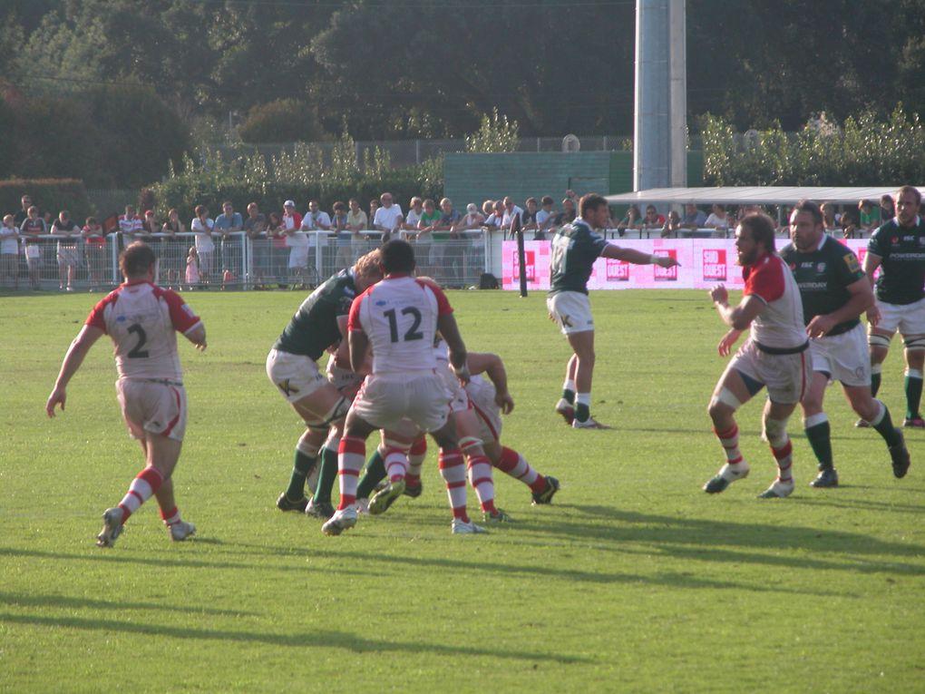 Match amical avant d'aborder la saison 2011-2012. Victoire du Biarritz Olympique 25 à 19 face aux Anglais. Photos : Clémence Lande-Verdier.