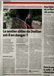 Article du Télégramme du 12 août sur le sentier côtier de Doëlan