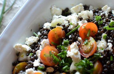 Salade de lentilles noires