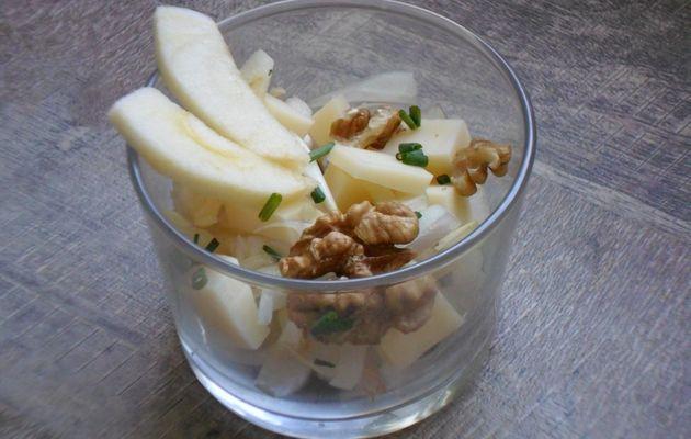 Salade endives/Noix/pommes et comté