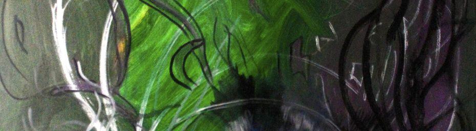 Peinture contemporaine à l'huile : Medusa