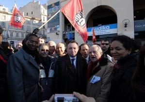 Les élus du Groupe municipal Faire Gagner Marseille se sont mobilisés lors de la grève générale du 29 janvier 2009