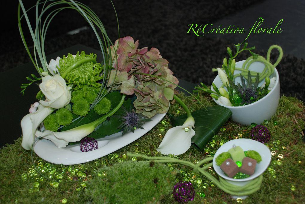 Cours d'art floral en entreprise, véritable anti stress et moment propice de détente pour tous.