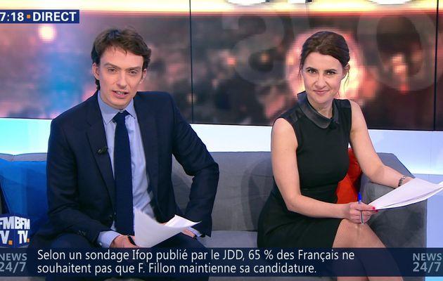 📸26 WEEK-END PREMIERE @BFMTV @BFMTVmatinaleWE @SandraGandoin @JohannaCarlosD8 ce matin #vuesalatele
