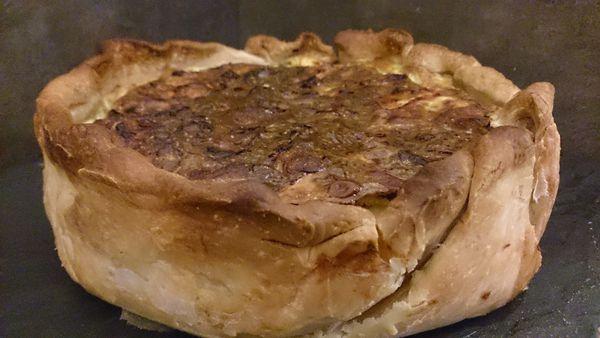 Tourte jambon champignons