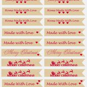 Freebie Friday - Preserve gift tags with matching round labels. - Happiness is cross stitching
