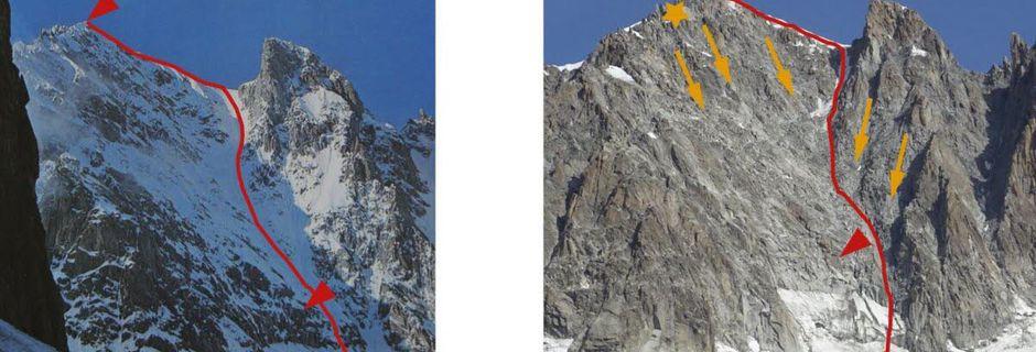 Le massif du Mont Blanc défiguré par le changement climatique