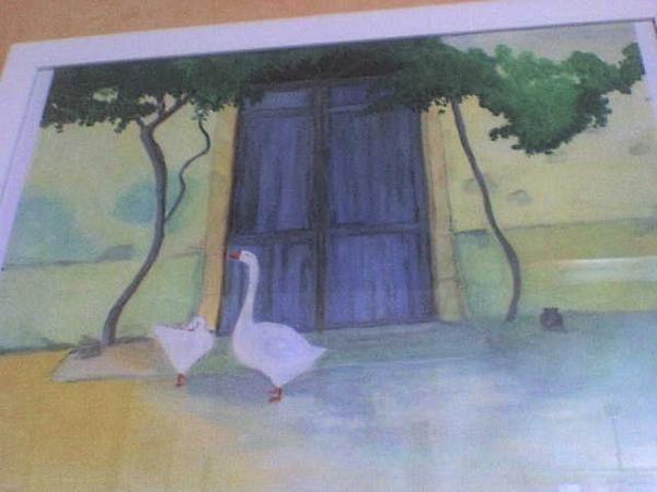 principalement lesp eintures de ma maman mais aussi un peu les miennes avec quelques dessins et des autres tableau réalisé par la famille ou les amis. On trouvera de la gouache, de l'aquarelle, de l'huile, de l'acrylique, du fusain, de la sanguine