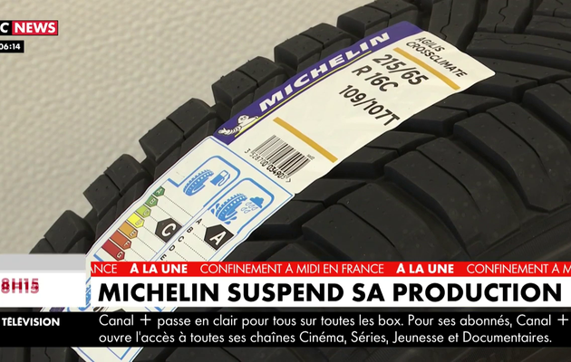 Coronavirus : Michelin suspend sa production
