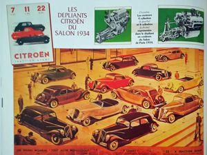 La Traction Avant de Citroën est la grande vedette de ce salon.